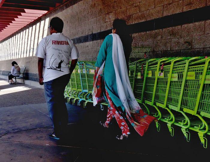 Mall Shopping Mall Shopping Carts Walking Indian Asian Dress Sari Streetphotography Street