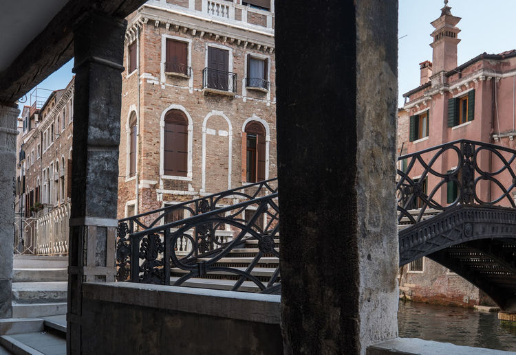 View of old building by canal