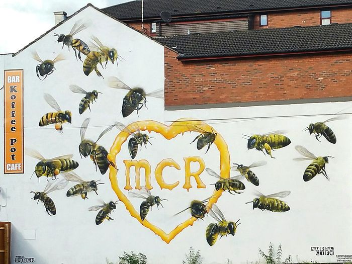 No People Outdoors Walking Around Street Art Manchester Manchester Arena Bombing Manchester Bee/Manchester City Bee 🐝