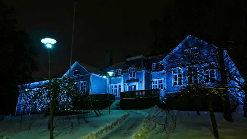 Night Illuminated Winter Cold Temperature Snow No People Outdoors Architecture