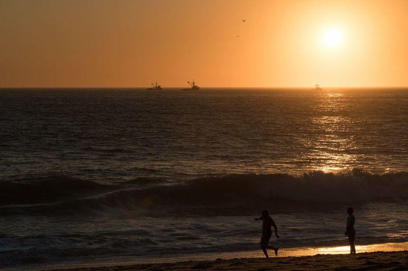 Silhouette of Kids Playing on the Beach at Sun Point Mugu State Park EyeEmNewHere EyeEmNewHere Neighborhood Map