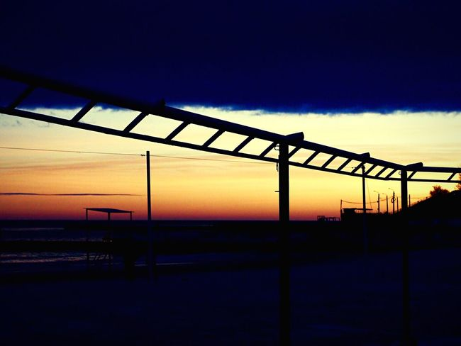 «Закат #6». Sunset Silhouette Sky Built Structure No People Nature Architecture