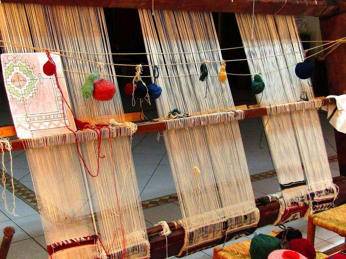 Colours Boardloom Carpet Design Loom Low Angle View Old Thread Traditonal Yarn