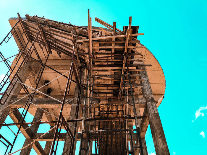 Staircase Formwork Formwork Construction Site Construction Industry Staircase Industry Sky Construction Scaffolding Incomplete