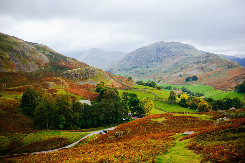 Lake District Ullswater Autumn Beauty In Nature Cloud - Sky Day England Environment Idyllic Land Landscape Mountain Mountain Range Nature No People Non-urban Scene Outdoors Plant Road Rolling Landscape Scenics - Nature Sky Tranquil Scene Tranquility Tree