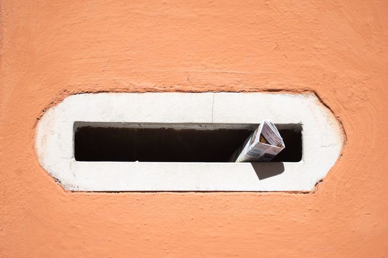 Minimalist Photography  Minimalobsession Minimal EyeEm Selects Wall - Building Feature Close-up Built Structure No People Architecture Day Wall White Color Textured  Geometric Shape Mailbox Brick Sunlight Building Exterior Old Outdoors