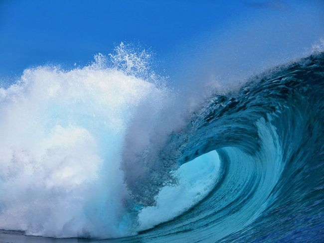 Power In Nature Blue Motion Wave Studio Shot Close-up A New Beginning