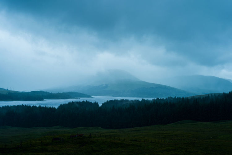 Scotland Beauty In Nature Cloud - Sky Day Highlands Lake Landscape Mountain Mountain Range Nature No People Outdoors Scenics Sky Tranquil Scene Tranquility Tree
