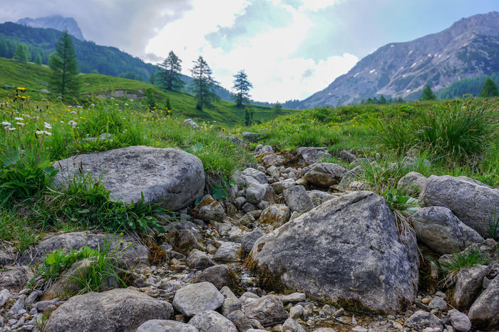 Austria Creek Beauty In Nature Day Grass Landscape Mountain Mountain Range Nature No People Outdoors Rock - Object Scenics Tranquil Scene Tranquility Water