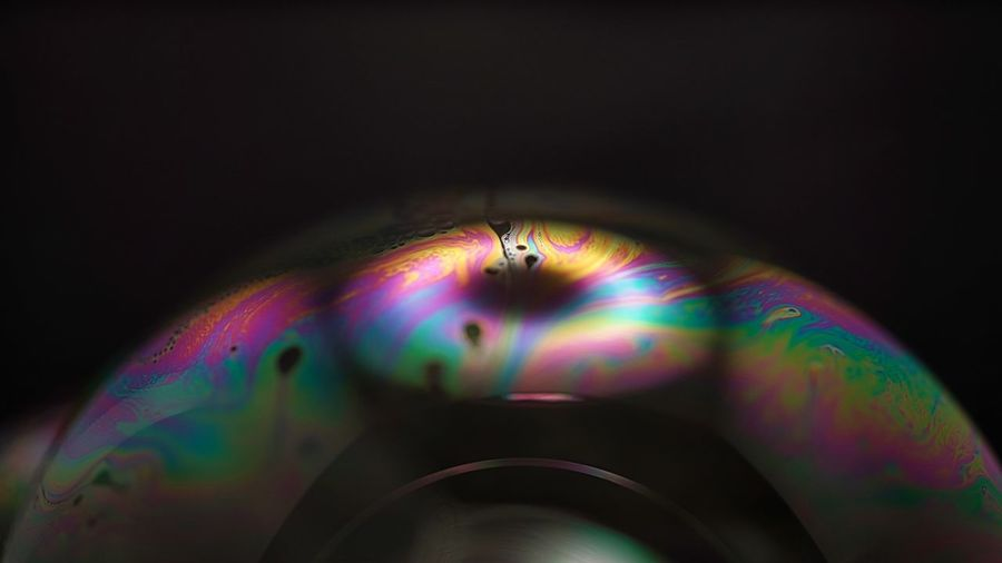 Close-up of rainbow over water