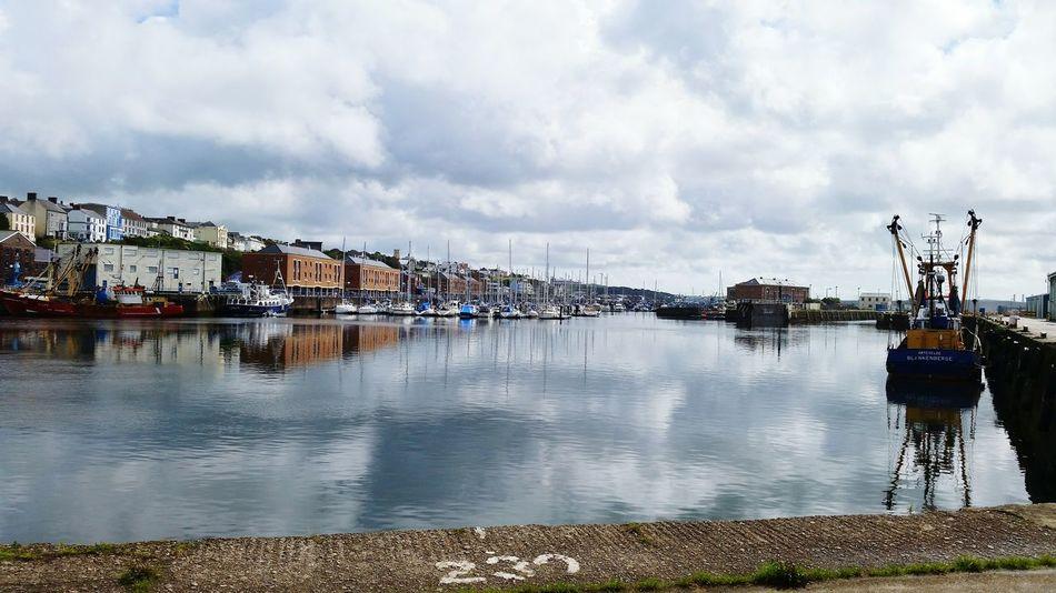 Learn & Shoot: Layering Milford Haven Pembrokeshire Docks Marina Sea Water Boats Trawler