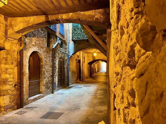 Corridor of old building