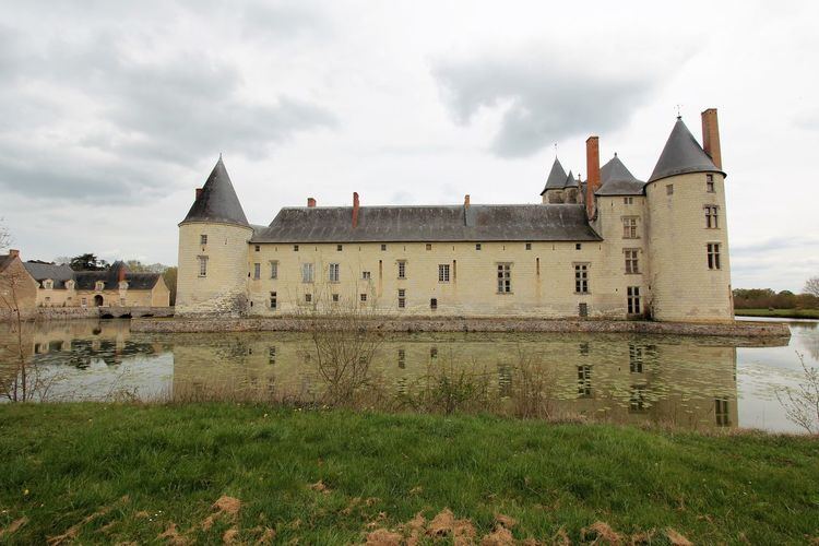 Château du Plessis-Bourré Architecture Château Du Plessis-Bourré French Castle Castle Lake French History Grey Clouds Over Castle Historic Architecture Historic Building Historic Site Mirror Lake Outdoors Photography