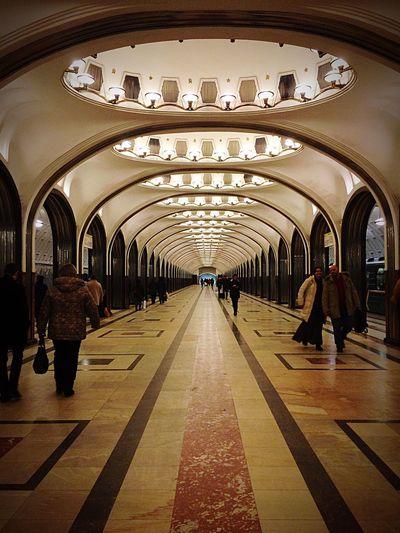 Moscow Mayakovskaya Metro