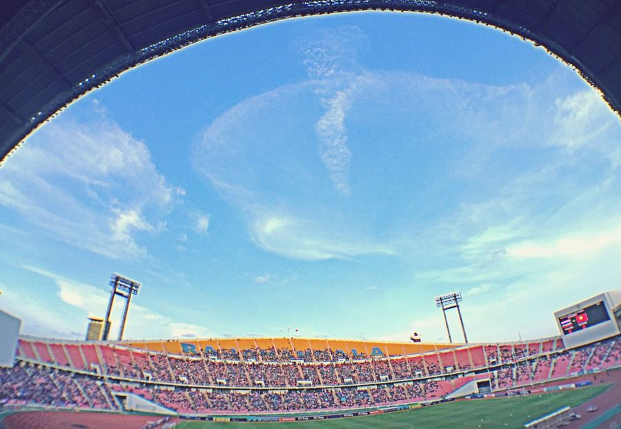 Cheer Thailand Stadium Football Football Stadium Bangkok Sky Clouds And Sky