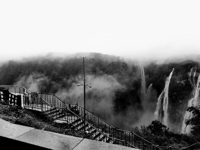 Jog Falls, Karnataka,India Tallest Waterfall In India MightY Jog Falls Karnatakaisbeautiful Sharavati River Misty Monsoon Roarer & Rocket Waterfall Treat For Eyes Tree Motion Rainy Season Weather Wet Foggy Season  Rain Rainfall