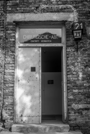 Auschwitz Auschwitz  Text Entrance Communication Western Script Door Architecture Sign Built Structure No People Closed Safety Building Exterior Security Wall - Building Feature Day Information Sign Information Protection Building Old