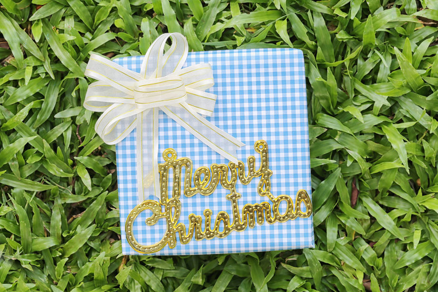 Blue Gift box on green lawn and gold text of Merry Christmas,Festival gift concept and Christmas or New Year's Day. Plant High Angle View Green Color No People Food And Drink Nature Plant Part Leaf Food Ribbon Directly Above Day Blue Ribbon - Sewing Item Flower Freshness Growth Outdoors Close-up Flowering Plant Blue Gift Box Gift Boxes Gift Box Green Lawn Green Lawns