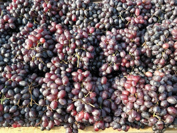 Full frame shot of grapes at market