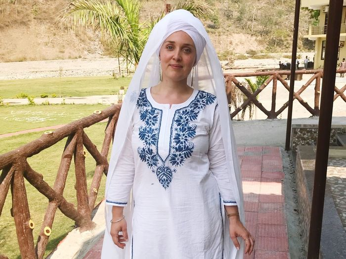 Beautiful People Waheguru India Yoga Kundalini Front View Portrait Looking At Camera One Person Standing Real People Outdoors Young Women Beautiful Woman