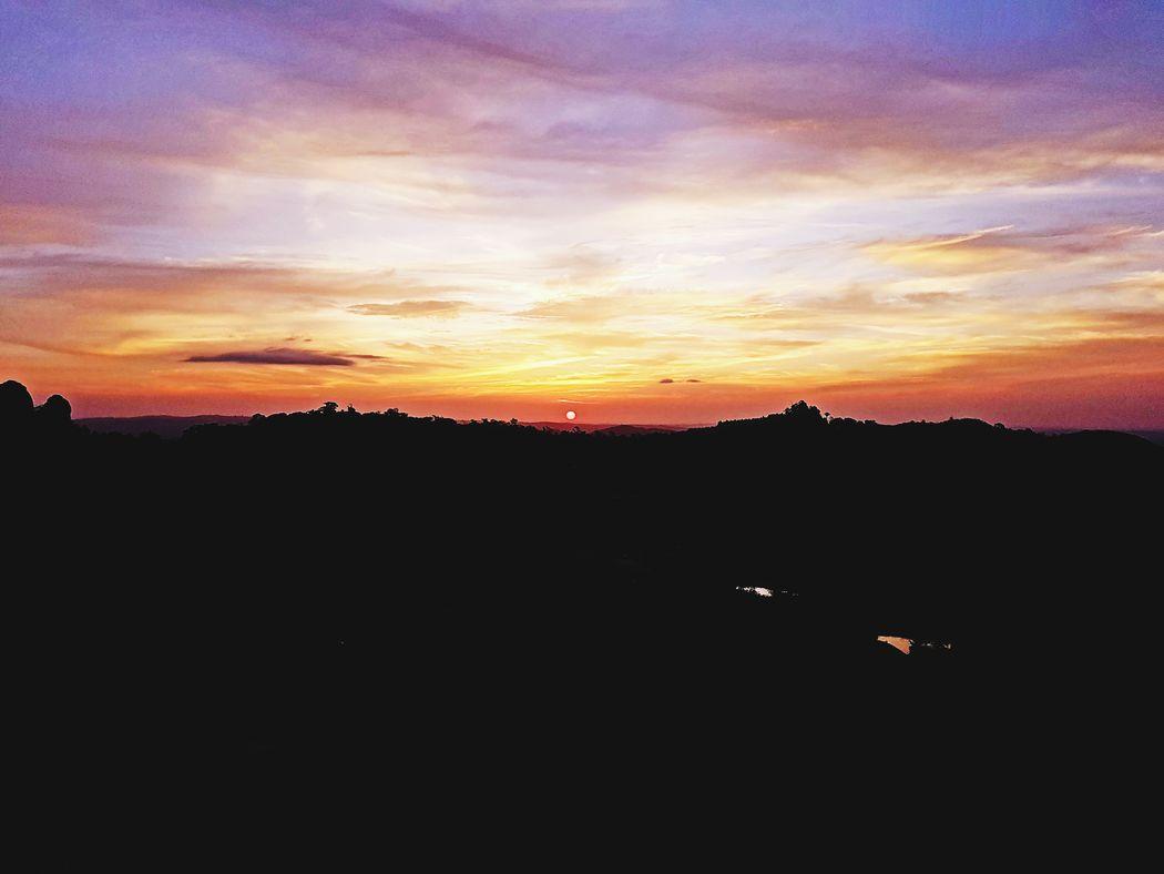 Sunset Mountain Silhouette Sky Landscape Cloud - Sky