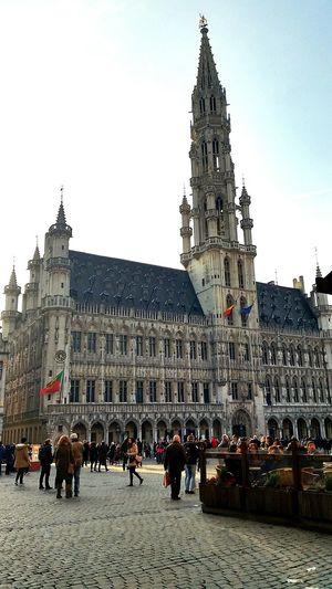 Brussels Belgium. Belgique. Belgie. Belgien. Etc. Grote Markt Big Square Sightseeing Traveling Photography City Hall Brussels Sky Eyem Best Shot - My World Eyemart