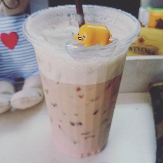 Don't want to do anything Gudetama Lattle Strawberrylatte Coffee Morning Lazy Monday