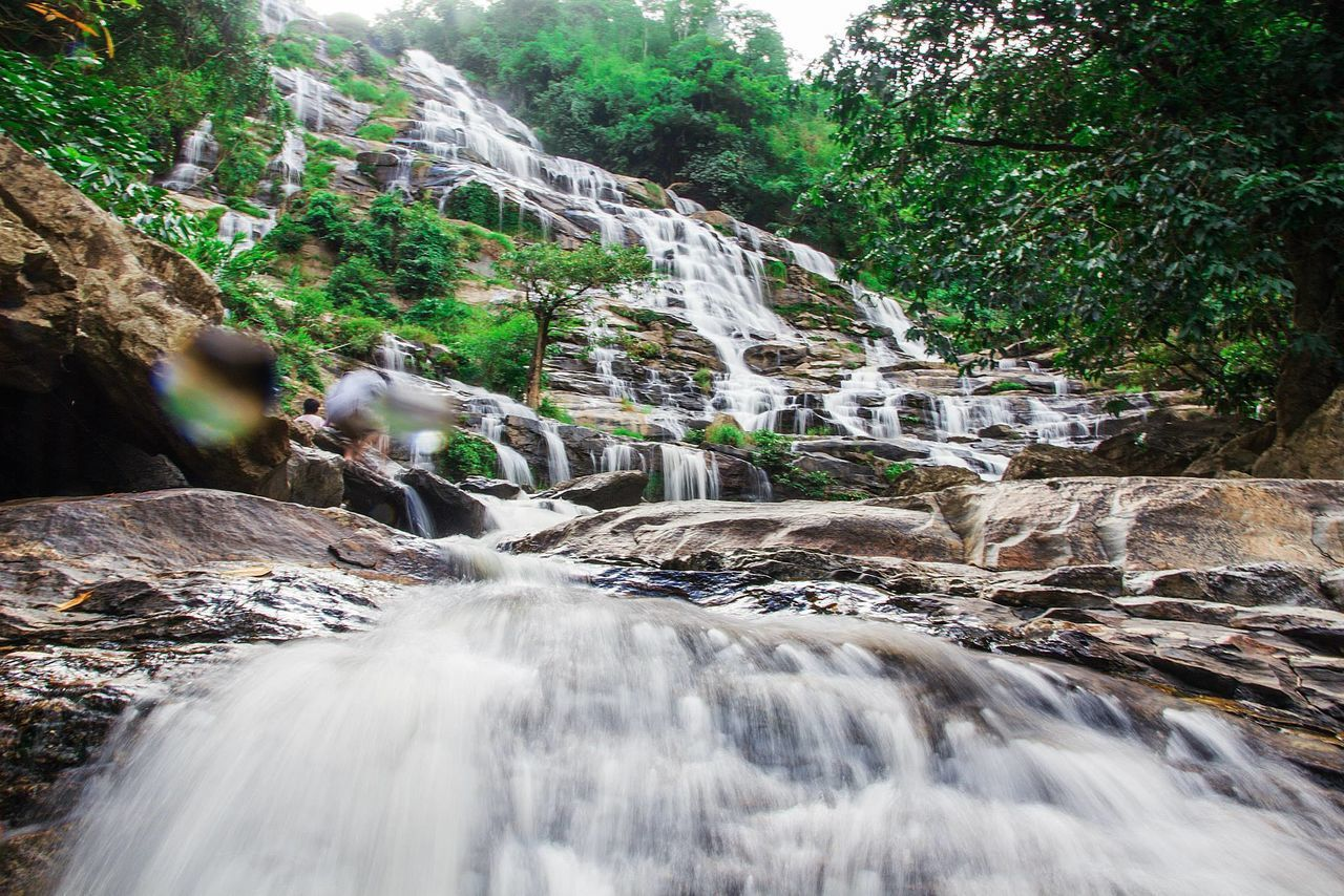 waterfall, motion, scenics - nature, long exposure, flowing water, forest, blurred motion, water, beauty in nature, rock, tree, rock - object, solid, plant, nature, land, flowing, day, no people, outdoors, power in nature, falling water, rainforest