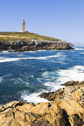 Hercules Tower in Coruna , Spain , Unesco world heritage Coruña Coruña Galicia Spain A Coruña Galicia Galicia Calidade Galicia, Spain Hercules Torre De Hércules Tower Of Hercules UNESCO World Heritage Site Unesco Lighthouse SPAIN Europe Atlantic Ocean Atlantic Celtic Celtics Breogan