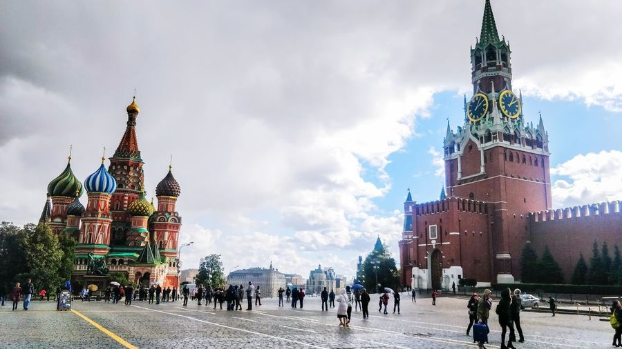 Red Square Moscow City Crowd Cityscape Urban Skyline History Sky Architecture Houses Of Parliament - London Politics And Government Clock Tower Parliament Building City Of Westminster Double-decker Bus Town Hall