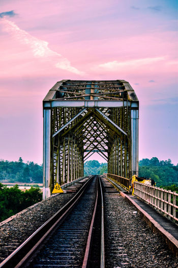 Architecture. Railroad Track Transportation Rail Transportation Built Structure Bridge - Man Made Structure Architecture Outdoors Sky Day