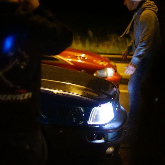 streetrace Streetsofsweden Streetrace Audi80 ? AudiS2 ? xenon rubber nightphotography audiofsweden sony sonyalpha canonfd1.4