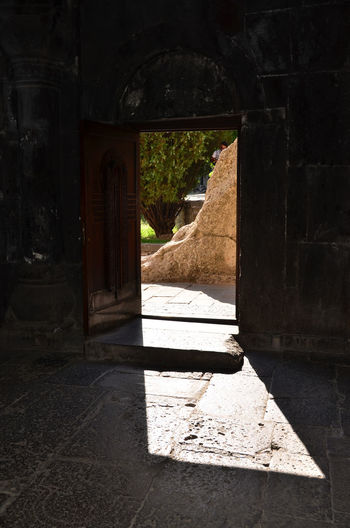 Armenia Geghard Geghard Monastery Ancient Civilization Arch Architectural Column Architecture Built Structure Day History Indoors  No People Oriental Orthodox Church Religion Sunlight Travel Destinations W-armenien