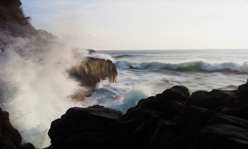 #EyeEmEsterlinda #italy Beauty In Nature Coast Horizon Over Water Majestic Motion Nature Power In Nature Scenics Sea Seascape Splashing Water Wave