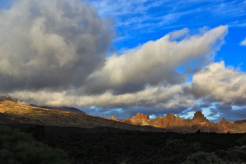 Beauty In Nature Blue Sky Canadas Del Teide Cañadas Cloud - Sky Clouds And Sky Day Landscape Mountain Nature No People Outdoors Scenics Sky Sky And Clouds Teide Teide National Park Tenerife Tranquil Scene Tranquility