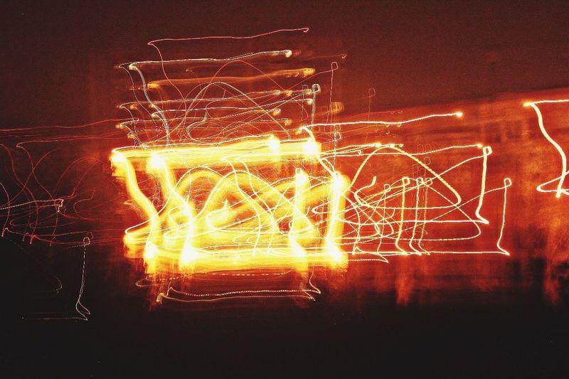 Night Illuminated Long Exposure No People Motion Exposure Bulb Art