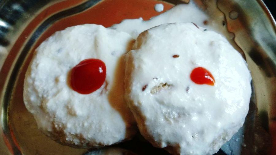 Dahipuri Dahivada Dahi Puri EyeEmNewHere Red Directly Above High Angle View Heart Shape Close-up Sweet Food Food And Drink