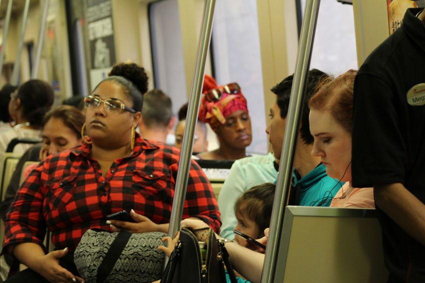 Girl Homebound Leisure Activity Lifestyles Medium Group Of People Sitting Subway People Train