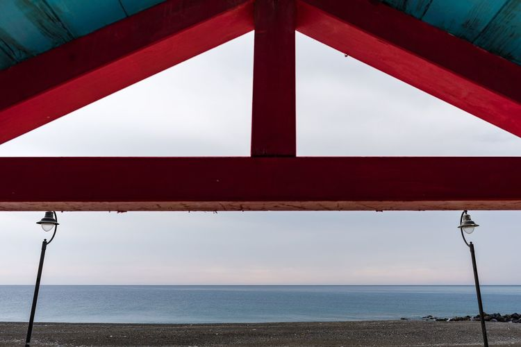 Triangle Sky Water Sea Nature No People Architecture Horizon Over Water