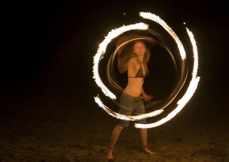 Portal Beach Playing With Fire On The Beach Fire Dancing Fire Dancer