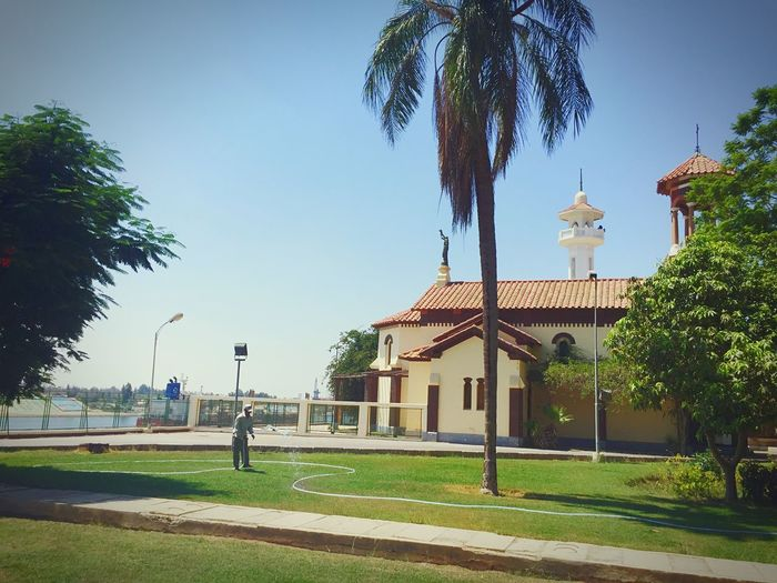 Tree Palm Tree Architecture Built Structure Building Exterior Day Clear Sky Street Light Sky Dome Outdoors No People Nature City Heritage Heritage Building Vintage Vintage Architecture Historic Historical Building Church Church Architecture Mosque Mosque Architecture Canals And Waterways