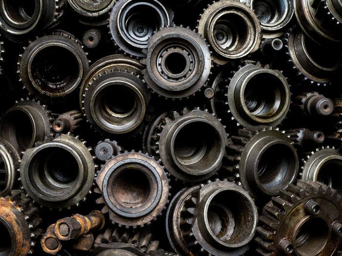 Full frame shot of gears
