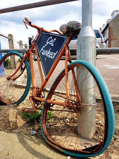Bike Horizontal Flat Tire Flat Tyre EyeEm Selects Seaside Bicycle Sky Close-up Land Vehicle
