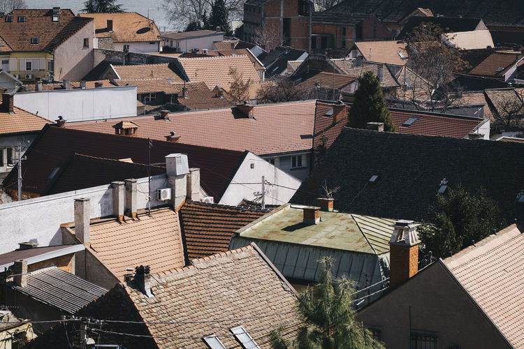 High Angle View Of Houses In Serbia