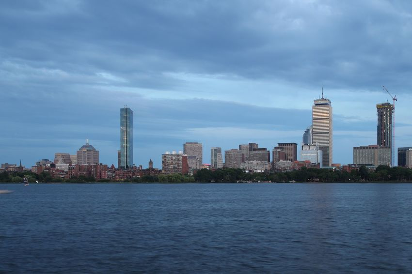 Skyline Boston Building Exterior Built Structure Architecture City Sky Water Building
