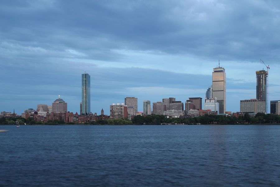 Skyline Boston Building Exterior Built Structure Architecture City Sky Water Building