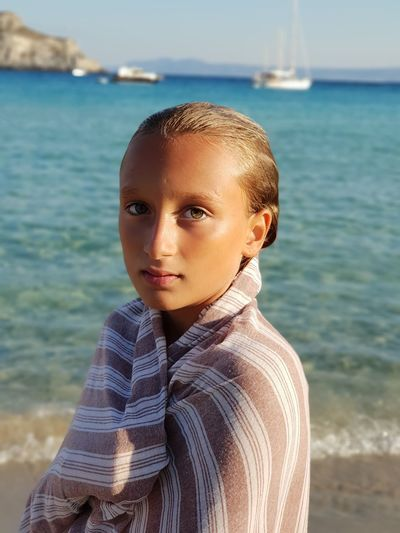 Portrait of a young lady Beautiful Day Tan Blond Hair Summer Summertime Mantle Yacht Sunlight Samsungphotography Beauty Beautiful Girl Young Adult Young Girl Water Portrait Sea Beach Looking At Camera Childhood Standing Child Headshot Close-up Horizon Over Water Thoughtful Hazel Eyes  Thinking Seascape Sand Sandy Beach