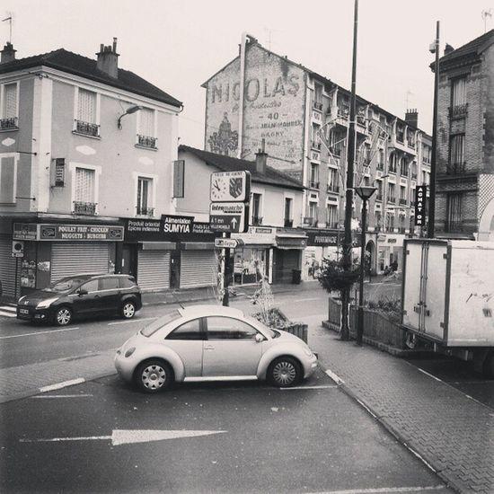 ' France Paris Banlieue Gagny gare cars newbeatle Nicolas blackandwhite retro ''