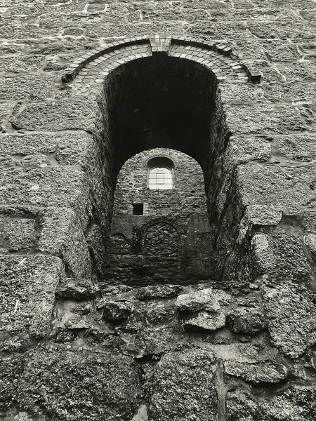 Full Frame Old Built Structure Backgrounds Arch Architecture History Deterioration The Past Surface Level Weathered Stone Ancient Civilization Stone - Material Stone Material Traveling Poldarkcountry Poldark Copper Mine Cornwall Damaged Stone Wall Blackandwhite B&w Structure