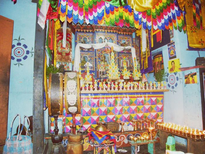 Check This Out! Alter Bhutaneselocal Colorful Precious ❤ Religious  Happiness ♡ Enjoying The View